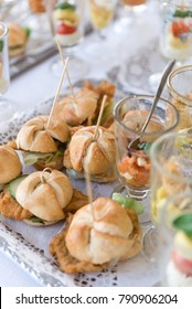 Delicious mini sandwiches on a plate