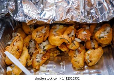 Delicious Mirchi Bajji Recipe Full Size. indian snacks of spicy mirchi bajii  stuffed Closeup - Image