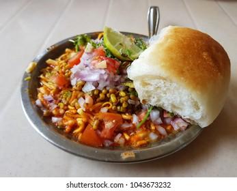Delicious Misal Pav - Maharashtrian Dish