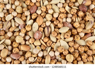 delicious mix nuts, top view
