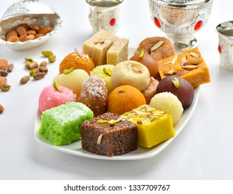 Delicious Mix Sweets or Mix Mithai with Kehva