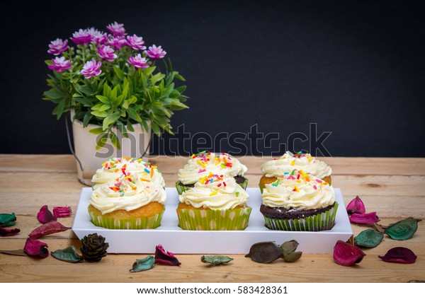 Delicious muffins - chocolate muffins