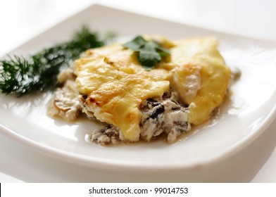 Delicious mushroom  with cheese