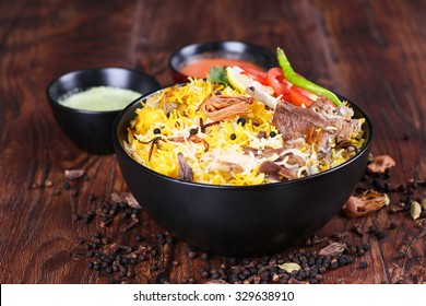 Delicious mutton biryani