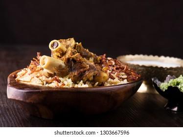 Delicious mutton biryani arabic style