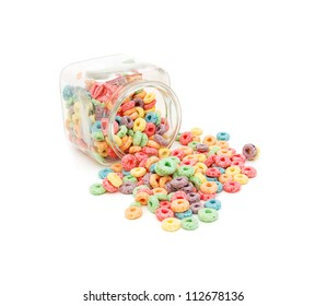 Delicious and nutritious fruit cereal loops flavorful