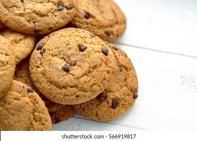 delicious oatmeal cookies with chocolate chips