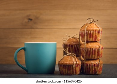 Delicious orange muffins for breakfast.