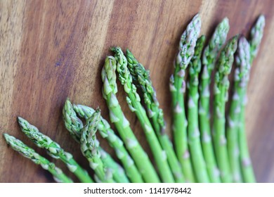 Delicious organic and fresh asparagus on Food theme. Selected focus.