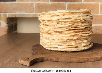 Delicious pancakes close up, a traditional culinary product