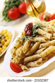 Delicious pasta dish with tomatoes