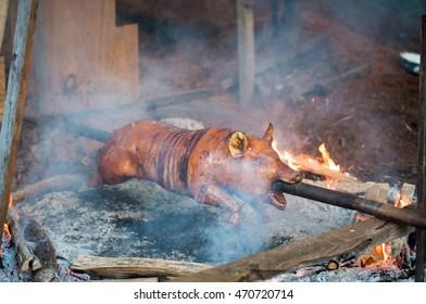 Delicious pig roast