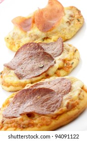 delicious pizza Hors d'oeuvre or  finger food appetizer
