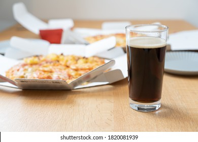 A delicious pizza on the table