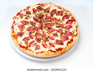 Delicious pizza with spongy and crunchy dough
