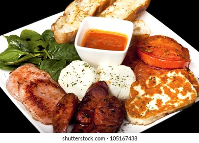 delicious plate of freshly made greek food