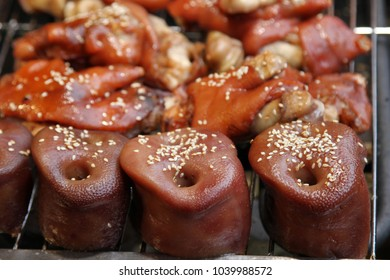 Delicious prepared pork noses from Chengdu, China