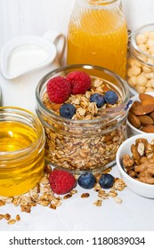 delicious products for a healthy breakfast, closeup
