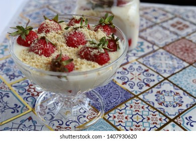 The Delicious Puding With Strawberry