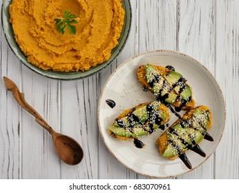 Delicious pumpkin hummus