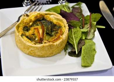A delicious quiche ready to east