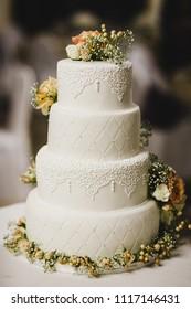 Delicious real wedding cake