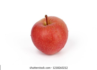 a delicious red apple isolated on white background