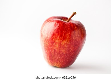 Delicious red apple on a white background