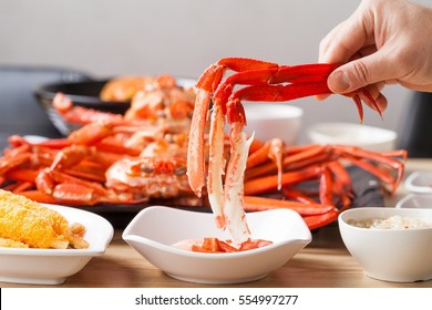 delicious red crab steamed dish