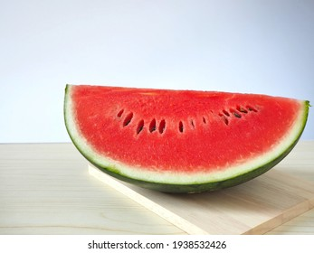 Delicious red flesh watermelon on the home table