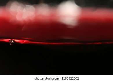 Delicious red wine in glass as background, closeup