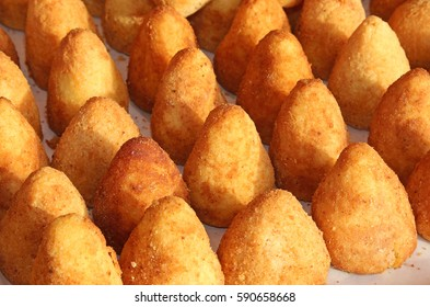 delicious rice balls made with fried rice. A typical dish of Mediterranean cuisine called Arancini in Italy
