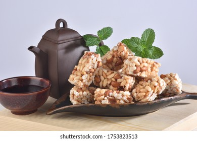 Delicious rice homemade crispy cookies