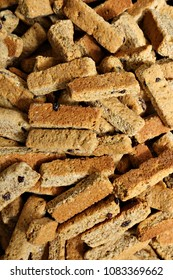 Delicious rusks in a pile.