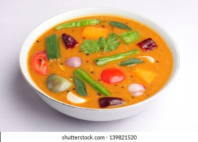 Delicious Sambar -A south Indian curry dish