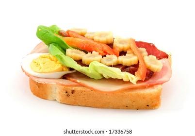 delicious sandwich studio isolated