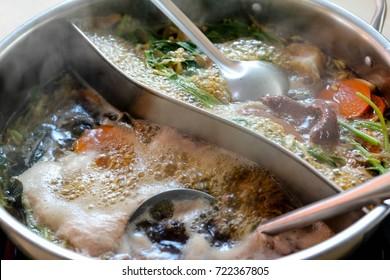 delicious shabu in Asian restaurant , Asian food culture