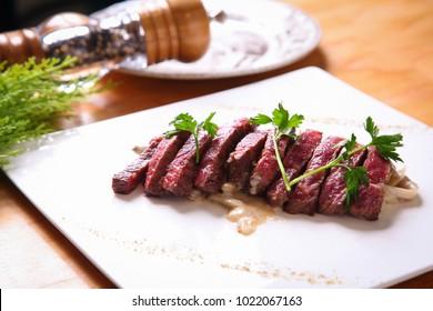 delicious sirloin steak