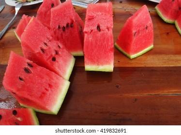 Delicious slice of watermelon