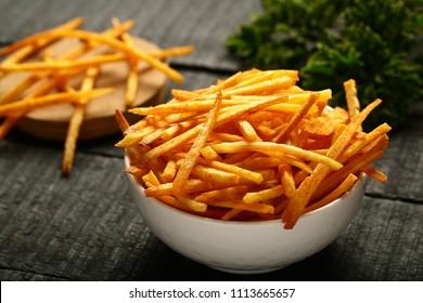 Delicious snack food - spiced cassava ,tapioca chips