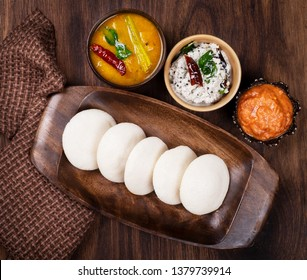 Delicious south Indian breakfast Idly and sambar