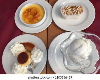 Delicious spanish desserts