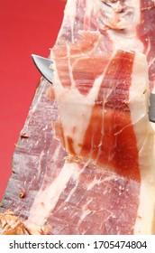 delicious spanish ham as gourmet food