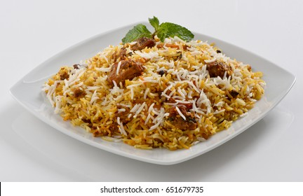 Delicious and Spicy Beef Biryani and Kabab
