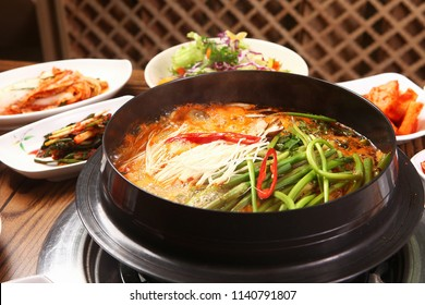 Delicious Spicy Fish Stew in a hot pot