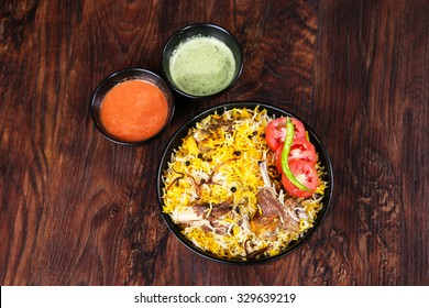 Delicious and spicy mutton biryani