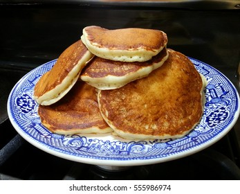 A delicious stack of pancakes.
