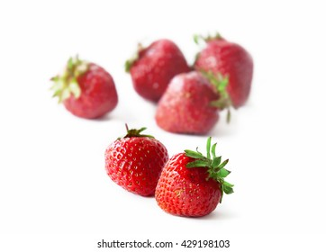 delicious strawberry on white background