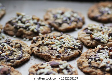 delicious sugar free homemade crispy oat cookies with nuts