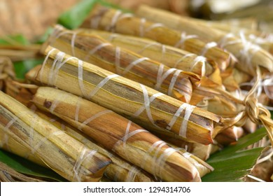 Delicious suman (rice cake) in Baler, Aurora